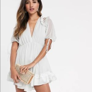 NWT ASOS Mini Ruffle Dress